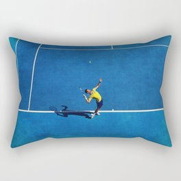 Novak Djokovic Tennis Serving Rectangular Pillow
