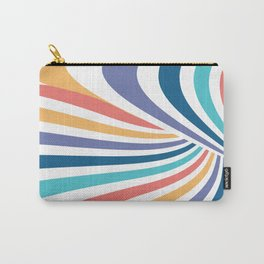 Marble // Retro Rainbow Stripes Carry-All Pouch