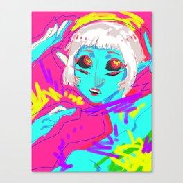 Alien in Love Canvas Print