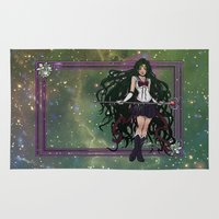 sailormoon Area & Throw Rugs featuring Sailor Pluto by Teo Hoble