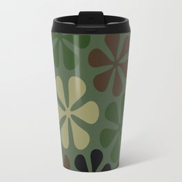 Abstract Flower Camouflage Travel Mug