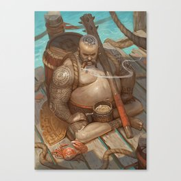 Defender of the rum Canvas Print