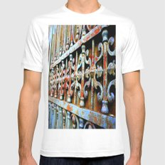 Gated Mens Fitted Tee MEDIUM White