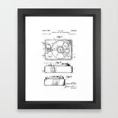 Turntable Patent Framed Art Print