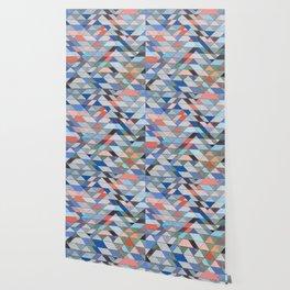 Triangle Pattern No. 7 Diagonals Wallpaper