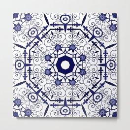 Mediterranean Style Tile Design Metal Print
