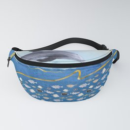 Dolphins Hunting Fish - Surreal Seascape Fanny Pack