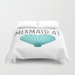 Mermaid At Heart  |  Teal Duvet Cover