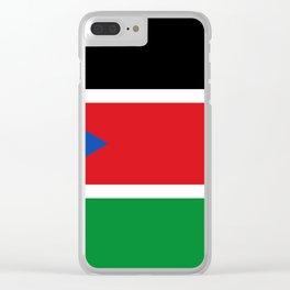 South Sudan Flag Clear iPhone Case