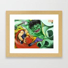 Thor v/s Hulk Framed Art Print