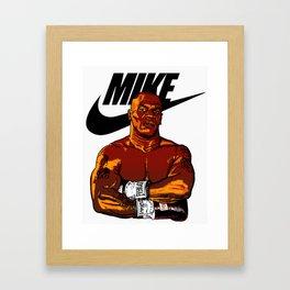 MIKE TYSON By La Brea Framed Art Print