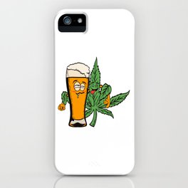 Awesome Cannabis Shirt For High People Pot Medical Weed T-shirt Design Marijuana Medication iPhone Case