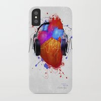 springsteen iPhone & iPod Cases featuring No Music - No Life by Sitchko Igor