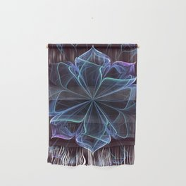 Ornate Blossom in Cool Blues Wall Hanging