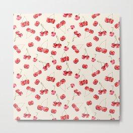 Cherry Pattern Metal Print