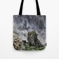 Chaotic water view Tote Bag