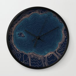 Crater Lake Topo Wall Clock