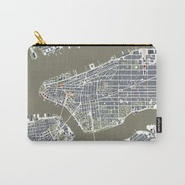 New York city map engraving Carry-All Pouch