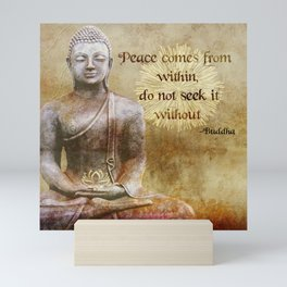 Buddha - Peace Comes From Within Mini Art Print