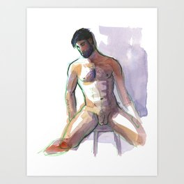 BRADLEY, Nude Male by Frank-Joseph Art Print