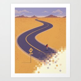 No path found Art Print