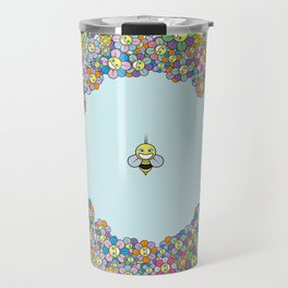 FLOWER POWER BEE Travel Mug