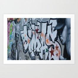Grafitti wall Art Print