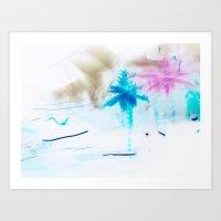 preppy Art Prints featuring Preppy Beach by EPART