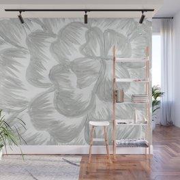 Silver Flower Wall Mural