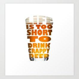 Beer glass Art Print