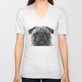 The Pug Unisex V-Neck
