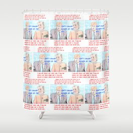 Presidential Debate 2016 #1 (all over version) Shower Curtain