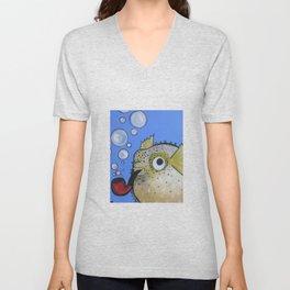 Puffer Fish Unisex V-Neck