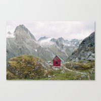 mint Canvas Prints featuring Mint Hut by Kevin Russ