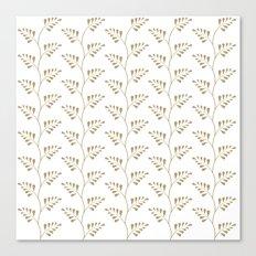 Tan Ferns Canvas Print