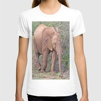 baby elephant T-shirts featuring Baby Elephant by Lynn Bolt
