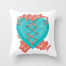 Ribbon Heart Throw Pillow