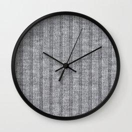 Soft Grey Jersey Knit Pattern Wall Clock