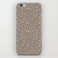 PolkaDots-Peach on Taupe iPhone & iPod Skin