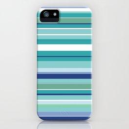 Tropical Blue Stripe|Banana Leaf Coordinate|Renee Davis iPhone Case