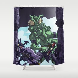 Into the Lair of The Baleful Ones... Shower Curtain