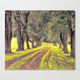 Green Avenue Airbrush Artwork Canvas Print