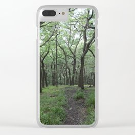 The Twisted Wood Clear iPhone Case