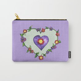 Heartily Floral Carry-All Pouch