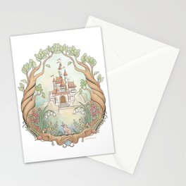 Castle in a Magical Forest Kingdom Stationery Cards