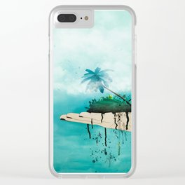 Crumbling paradise Clear iPhone Case