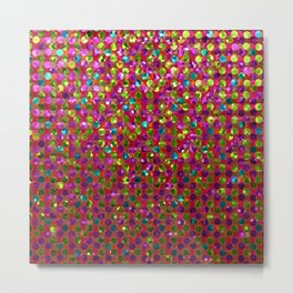 Polka Dot Sparkley Strass G266 Metal Print