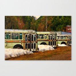 Bus Cemetery Canvas Print