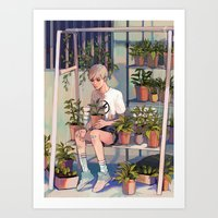 plants Art Prints featuring plants by KEL H