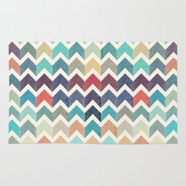 Watercolor Chevron Pattern Rug